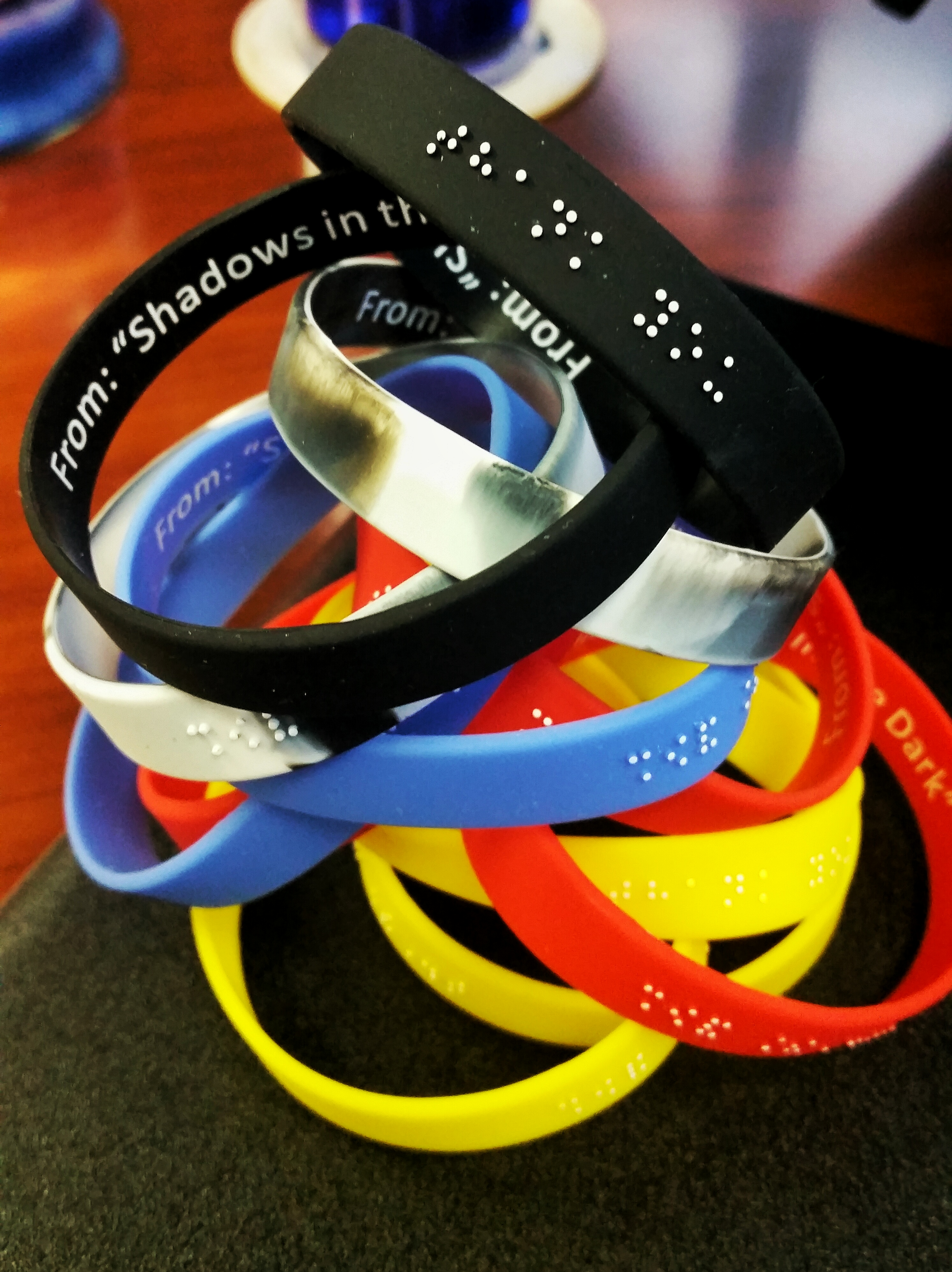 RapidWristbands | Custom Silicone Wristbands | Braille Embossed