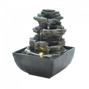 10018474 Rock Tabletop Fountain