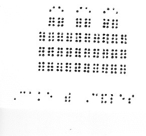 shadows in the dark, braille cards/services  gifts, Birthday card